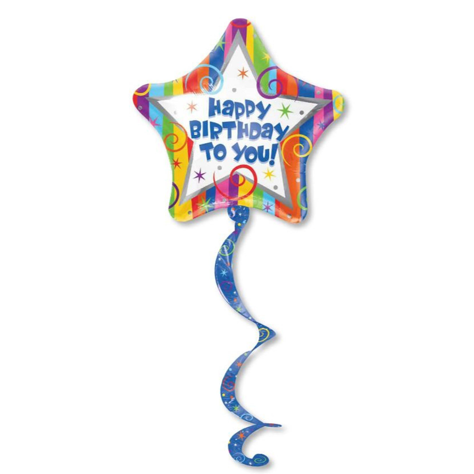 Airwalker Coil Tail Happy Birthday Streamer P70