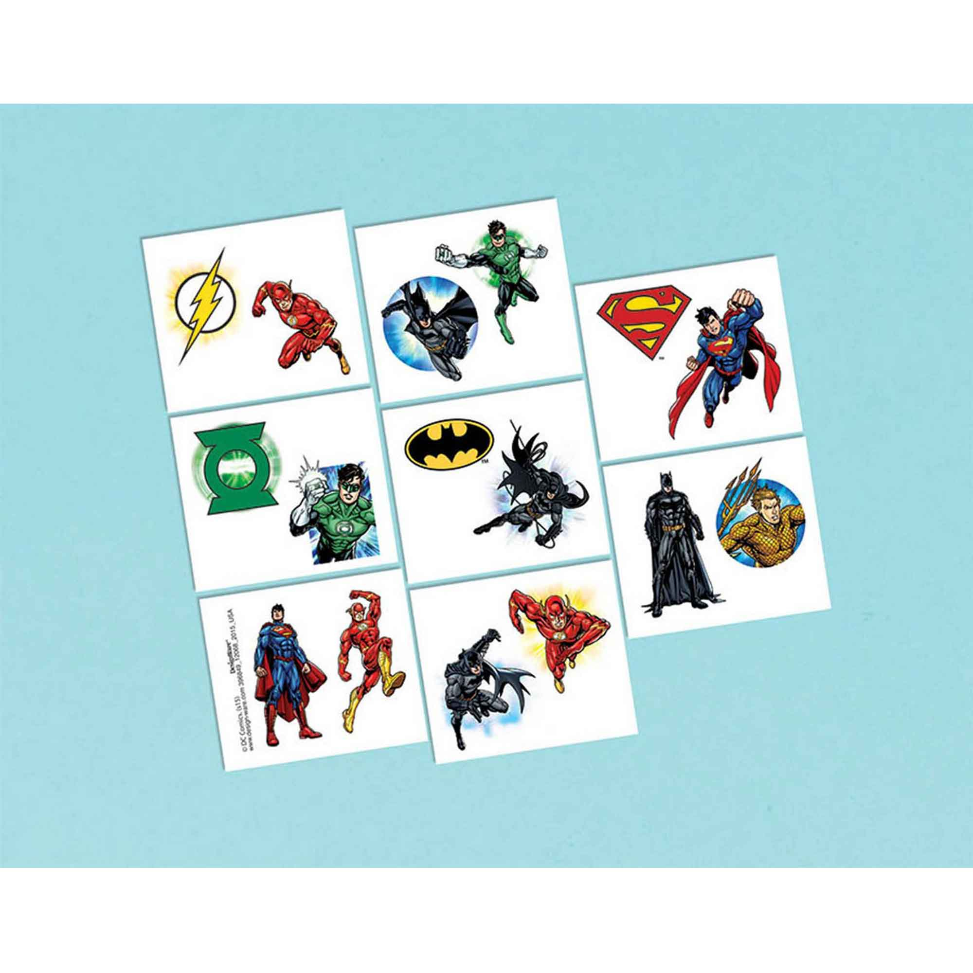 Justice League Tattoo Favors