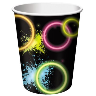 Glow Party Cups Paper 266ml