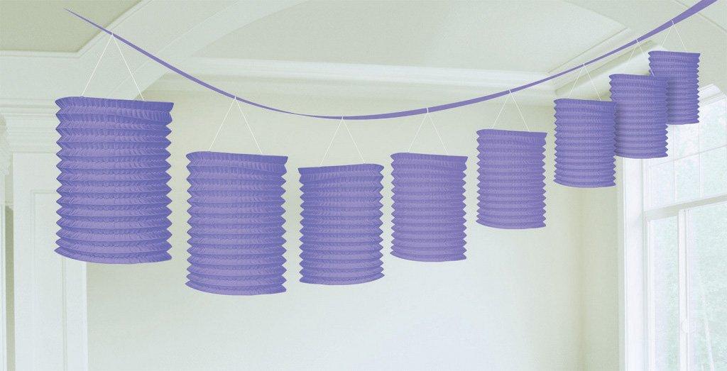 Paper Lantern Garland-New Purple