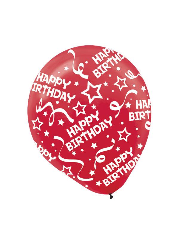 30cm Latex Balloon  Birthday Red