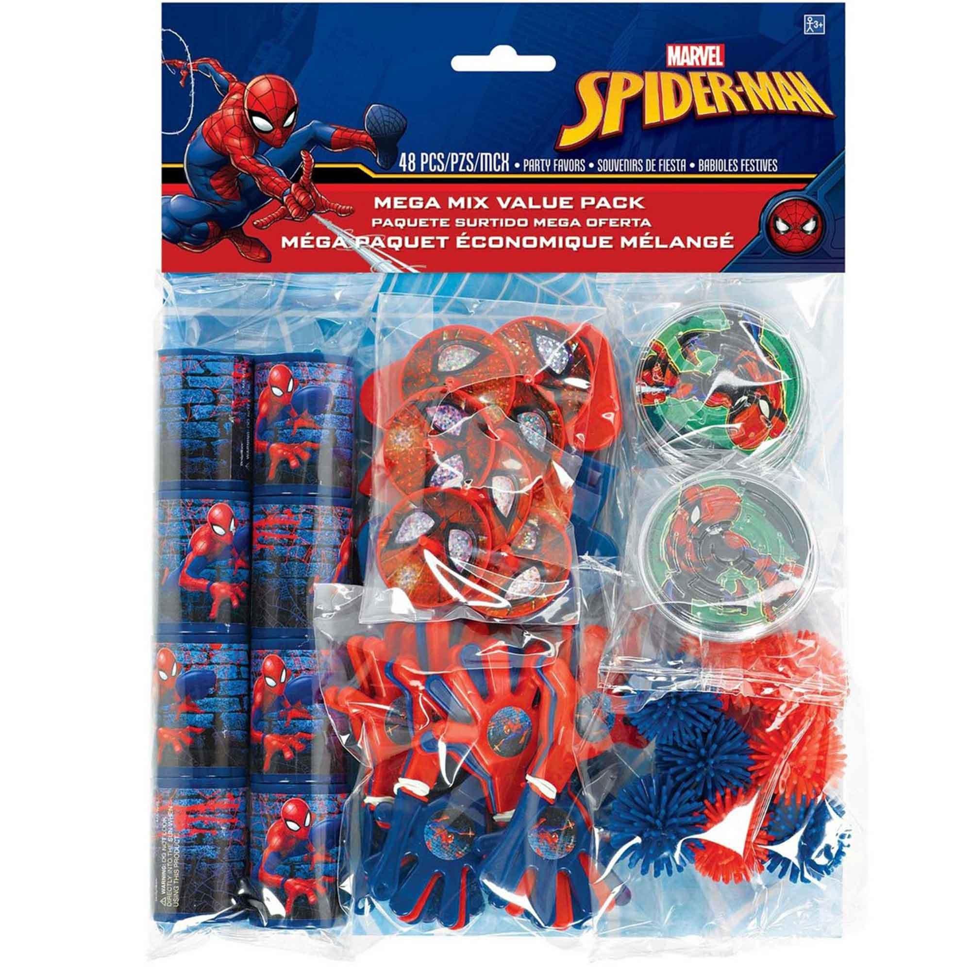 Spider-Man Webbed Wonder Mega Mix Value Pack Favors