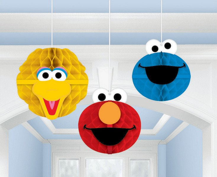 Sesame Street Honeycomb Decorations - Tissue & Printed Paper