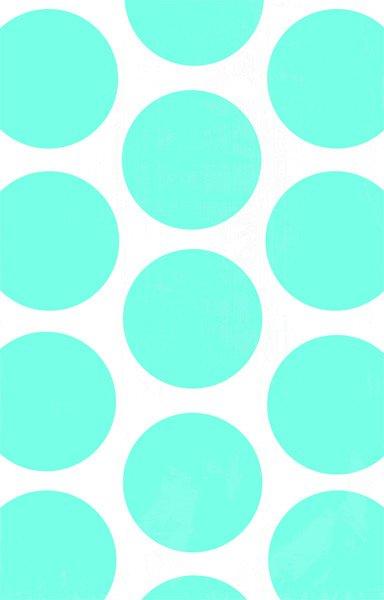 Paper Bag Polka Dot Caribbean Blue