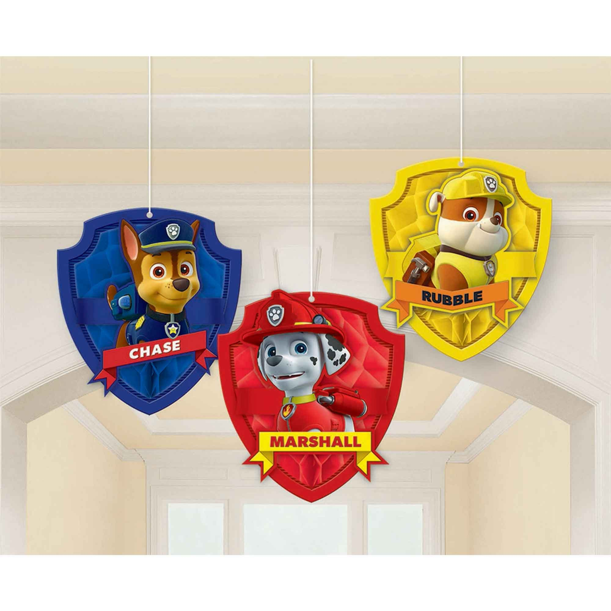 Paw Patrol Honeycomb Decorations - Tissue & Printed Paper