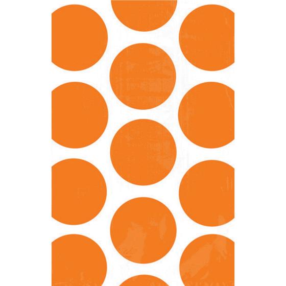Paper Bag Polka Dot Orange