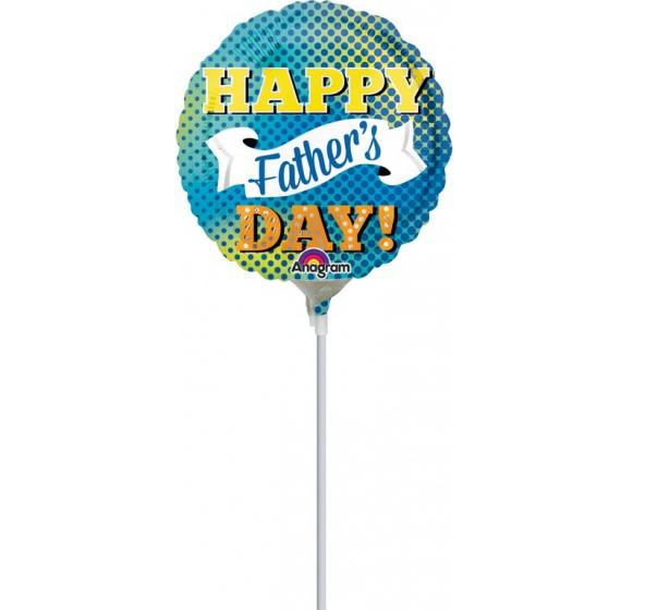 23cm Happy Fathers Day Dots & Banner A15