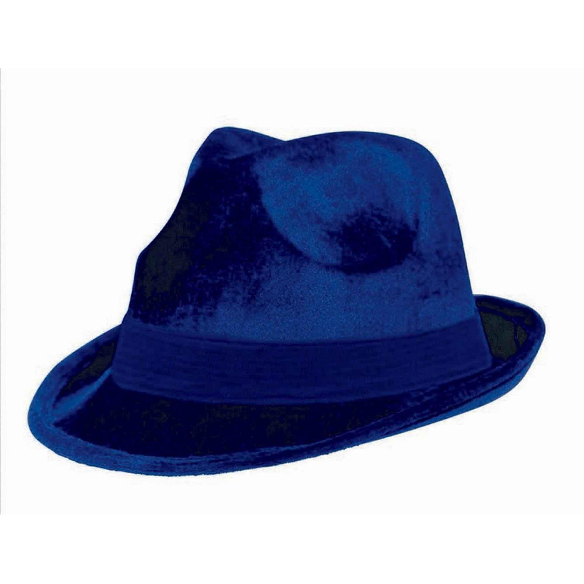 Fedora Velour Hat  - Navy