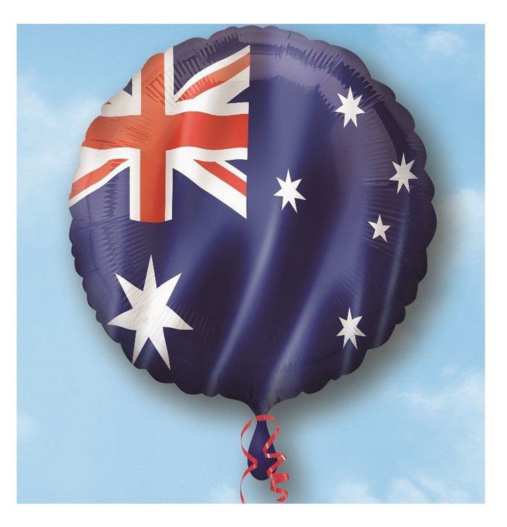 Foil Balloon 45cm Australia Day