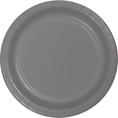Glamour Gray Dinner Plates Paper 23cm