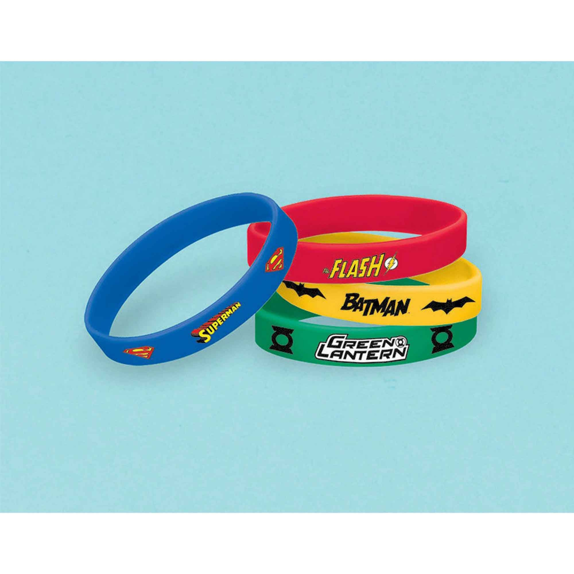 Justice League Rubber Bracelets