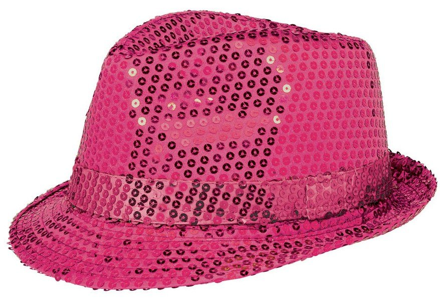 Fedora Sequin Hat - Hot Pink