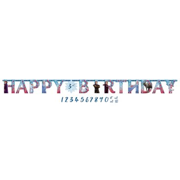 Frozen 2 Jumbo Happy Birthday Add-An-Age Letter Banner