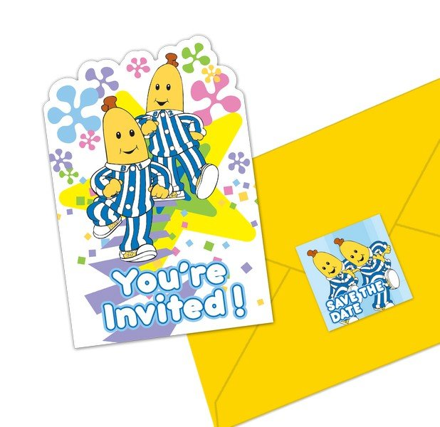 Bananas in Pyjamas Postcard Invitations