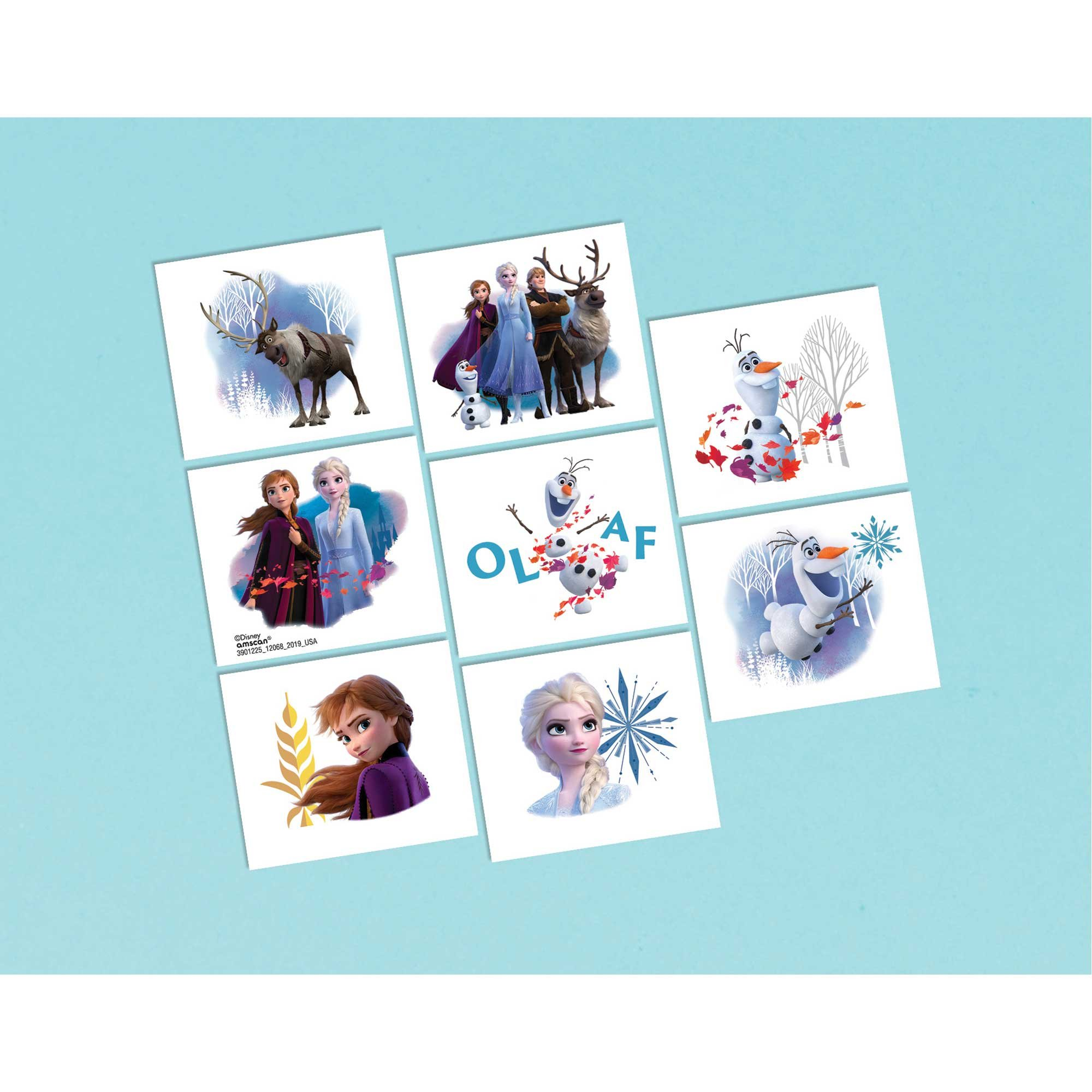 Frozen 2 Tattoo Favors Assorted Designs