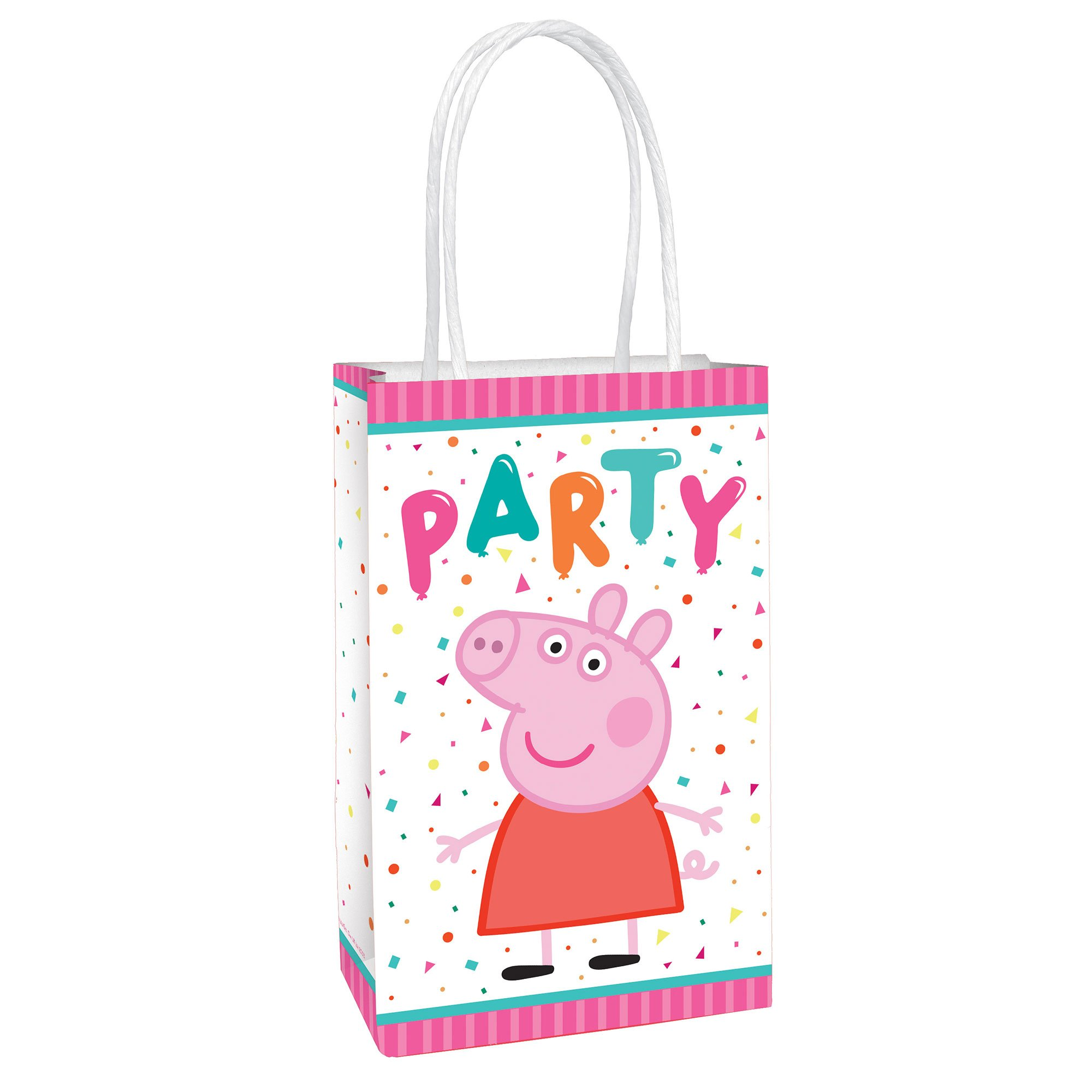 Peppa Pig Confetti Party Paper Kraft Bags
