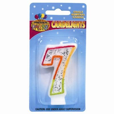 Candlelights Numeral 7 Rainbow