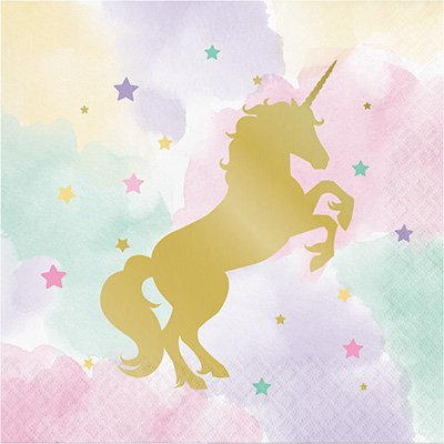 Unicorn Sparkle Lunch Napkins Foil Stamped