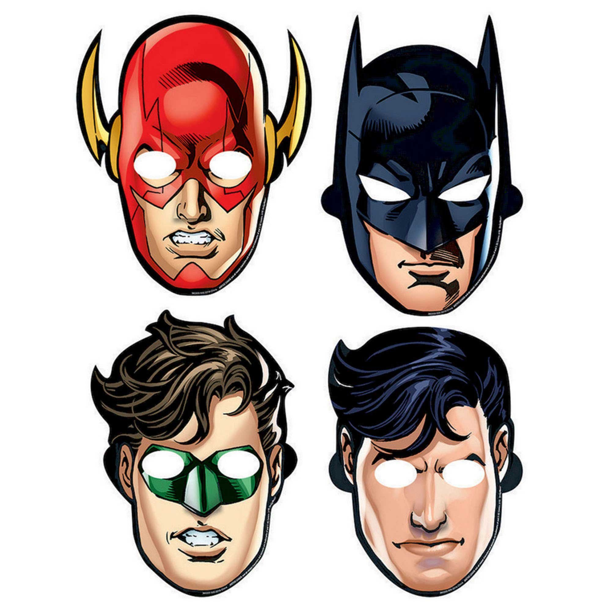 Justice League Paper Masks
