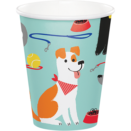 Dog Party Cups Paper 266ml