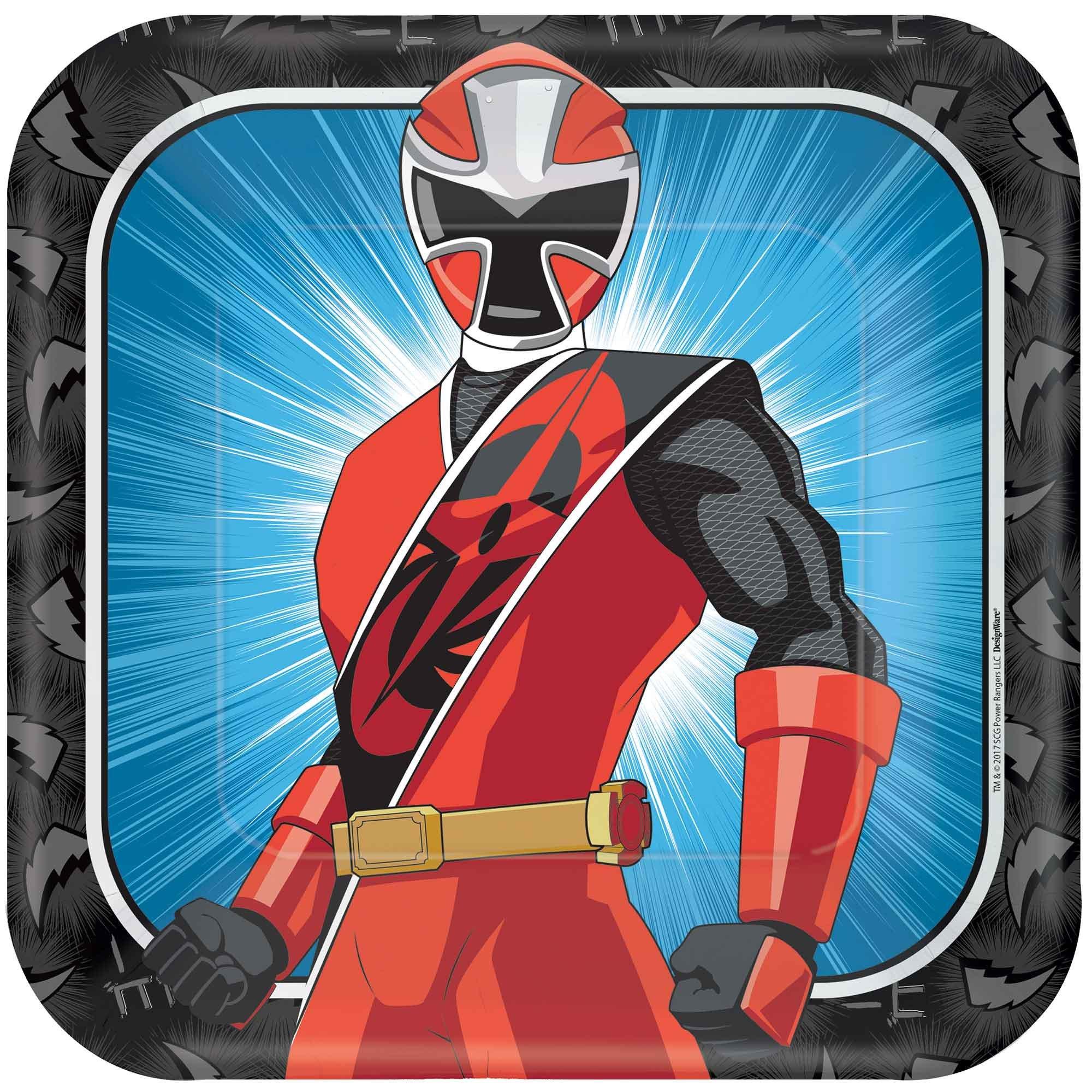 """Power Rangers Ninja Steel 9"""" / 23cm Square Paper Plates"