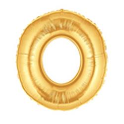 18cm Megaloon Junior Number '0' Gold