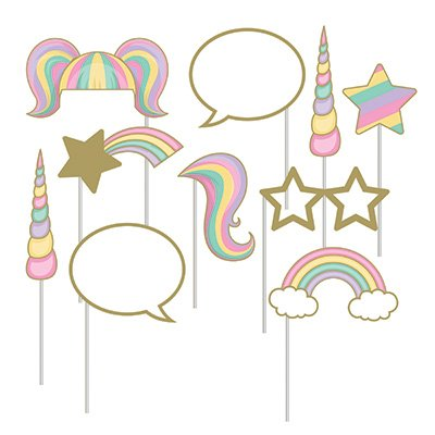 Unicorn Sparkle Photo Booth Props Assorted Designs