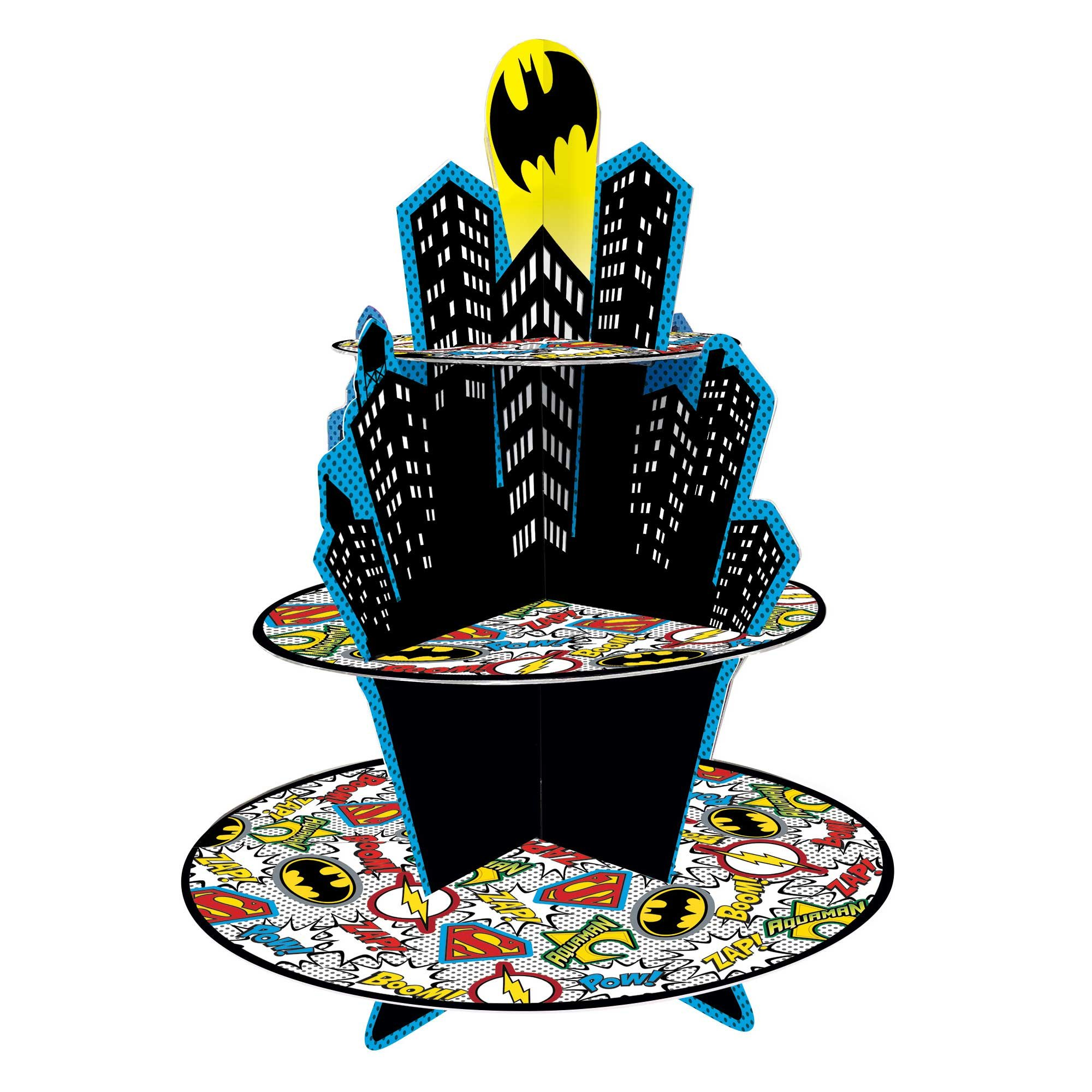 Justice League Heroes Unite 3 Tier Treat Stand