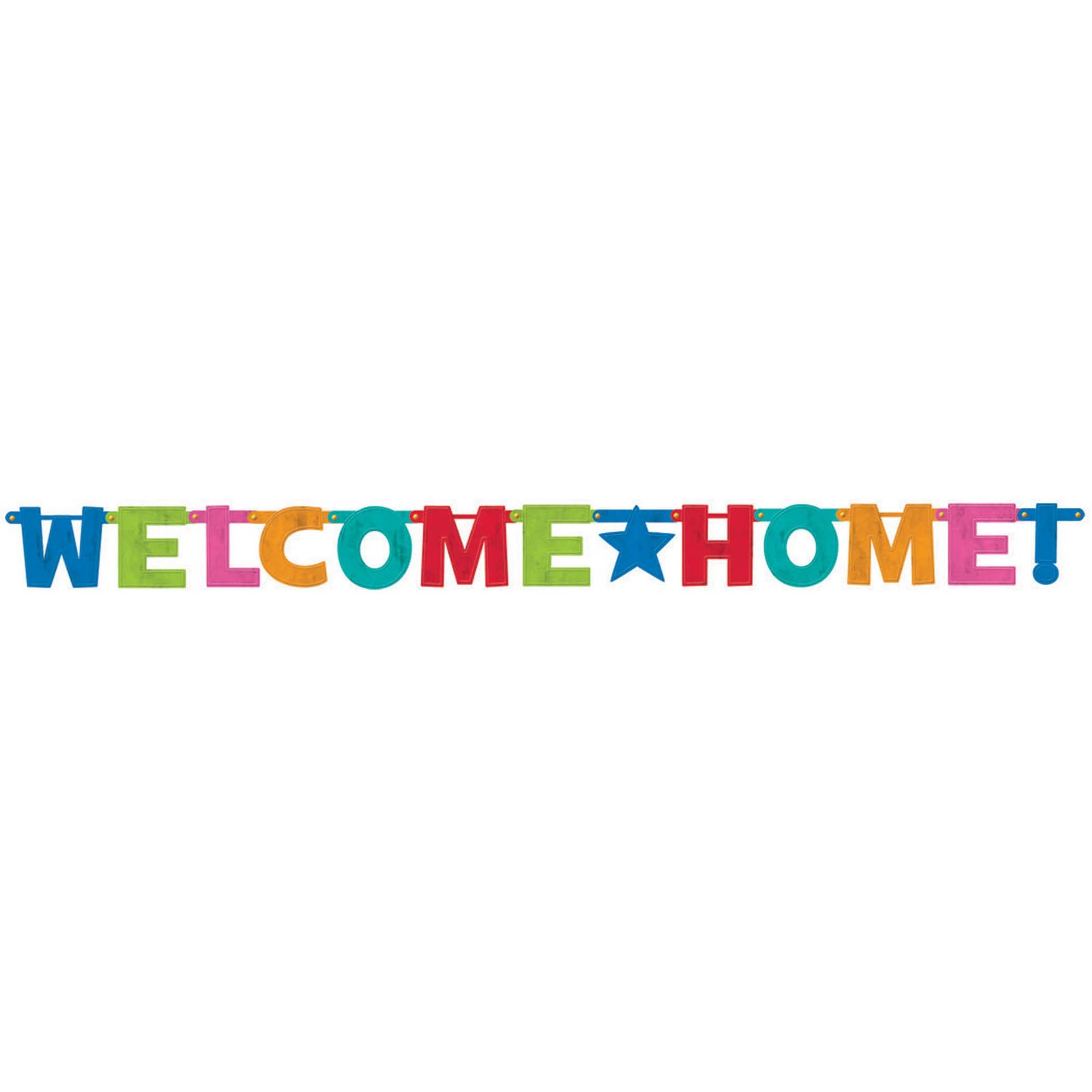 Cabana Dot Welcome Home Letter Banner