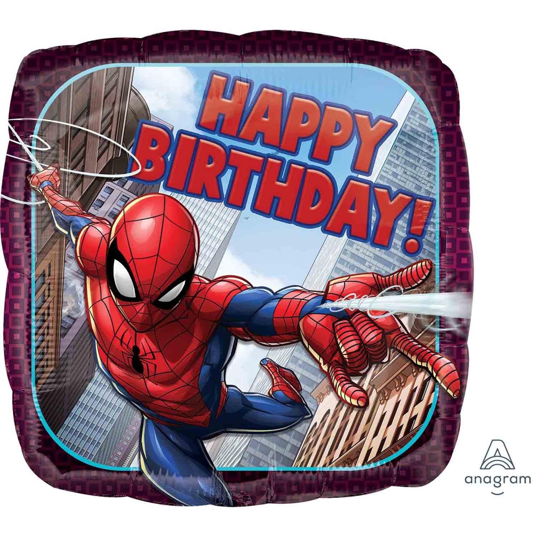 45cm Standard HX Spider-Man Happy Birthday S60