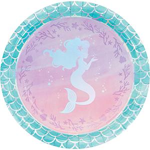 Mermaid Shine Iridescent Dinner Plates Paper 22cm