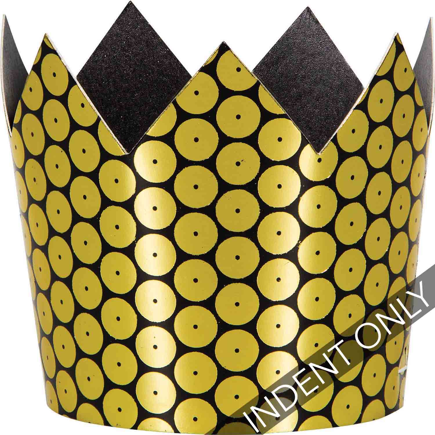 Gold Foil Decor Crowns