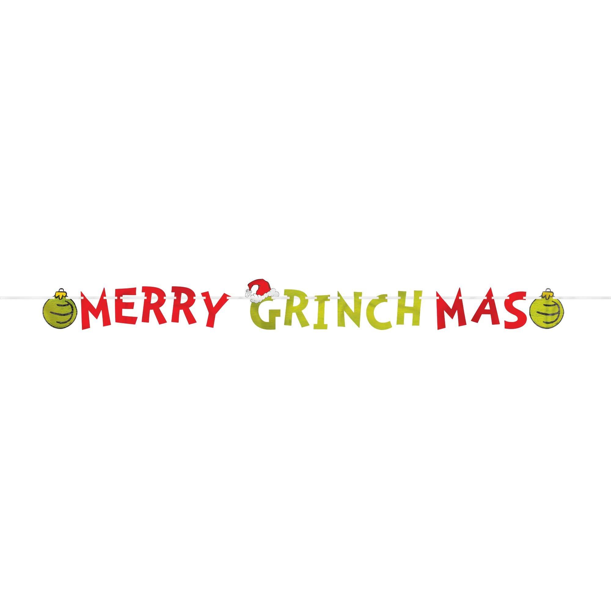 Dr. Seuss The Grinch Merry Grinchmas Foil Letter Banner