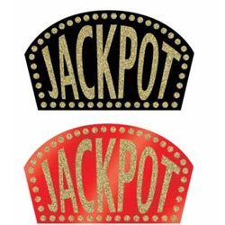 Cutout Jackpot Sign Glittered