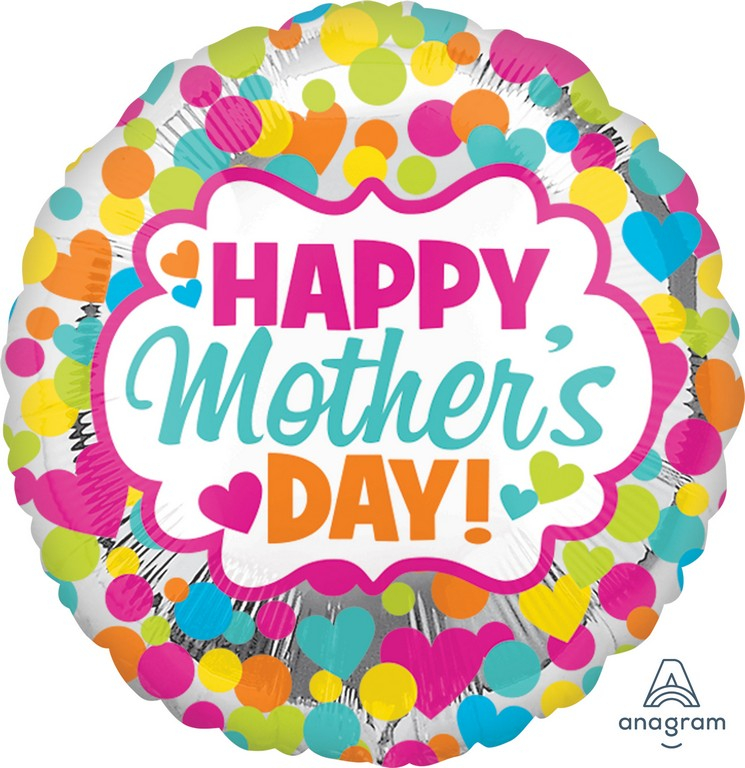 45cm Standard HX Happy Mother's Day Dots & Hearts S40