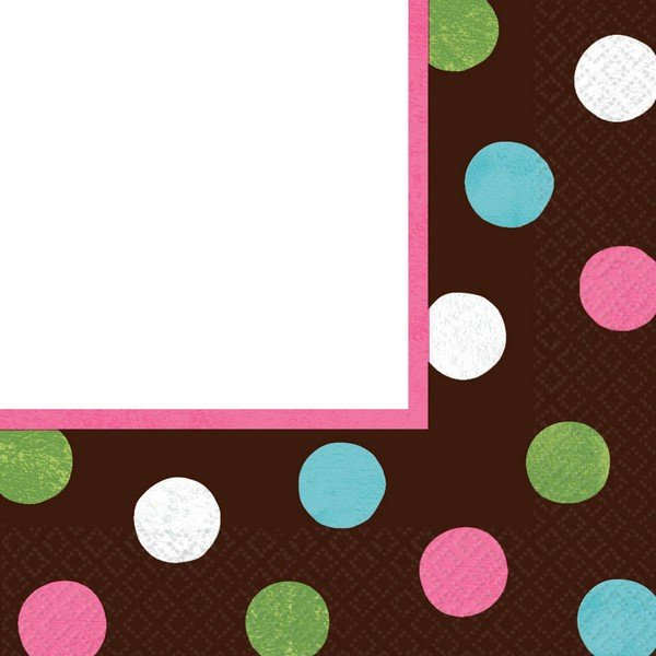 Warm Polka Dot MID  Pack Lunch Napkins