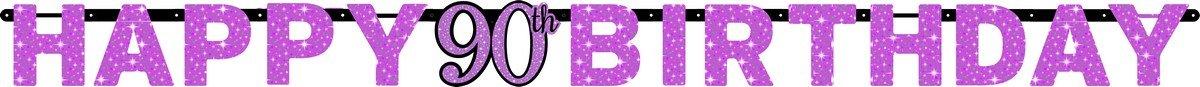 Pink Celebration 90 Prismatic Letter Banner