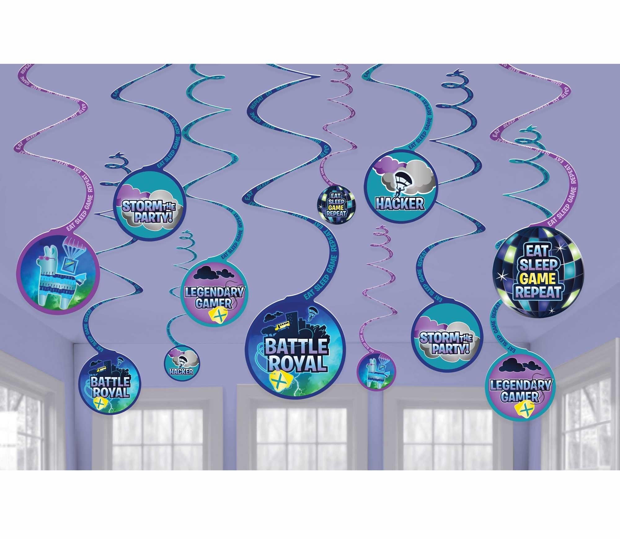 Battle Royal Spiral Hanging Swirl Decorations