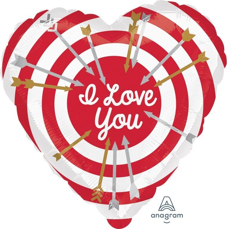 45cm Standard HX I Love You Bullseye S40