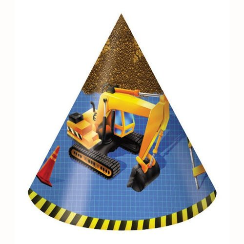 Under Construction Party Hats Child Size