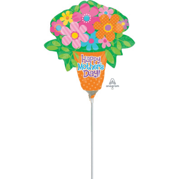 Mini Shape Happy Mothers Day Bright Flowers A30