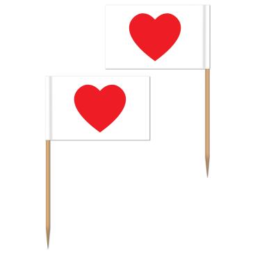 Heart Picks 6cm