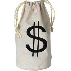 Western Money Bag $ with Drawstring Calico