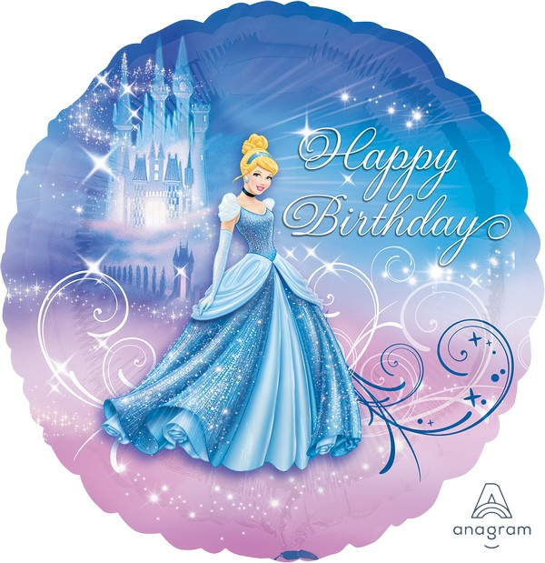 45cm Standard XL Cinderella Happy Birthday S60