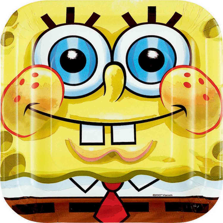 SpongeBob 17cm Square Plate