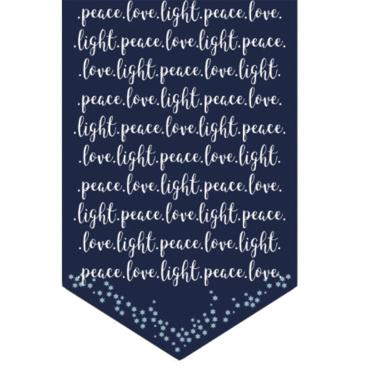 Hanukkah Table Runner peace love light