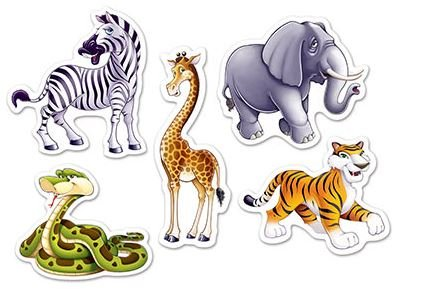 Jungle Animals Mini Cutouts