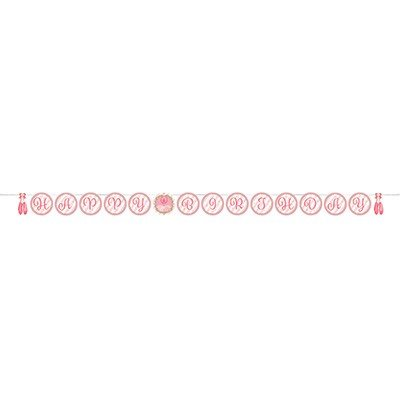 Twinkle Toes Happy Birthday Ribbon Banner 15cm x 2.6m