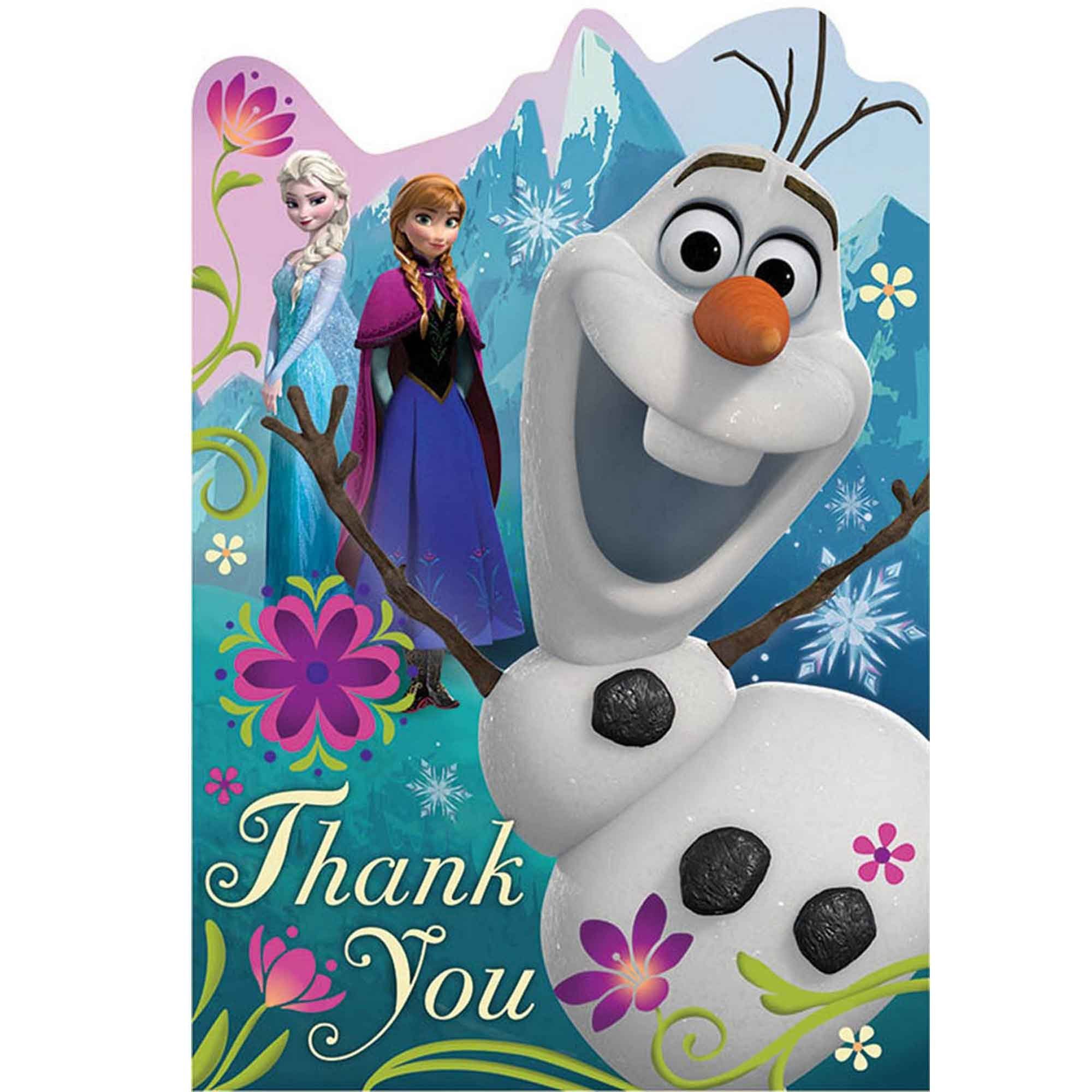 Frozen Postcard Thank-You Cards