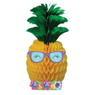 Pineapple N Friends Large Centrepiece Honeycomb 45cm x 17cm